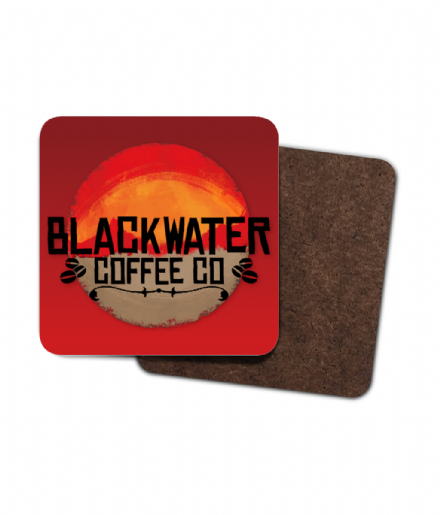 BlackWater Coffee Co - Red Dead Redemption 2 - 4 Pack Hardboard Coaster